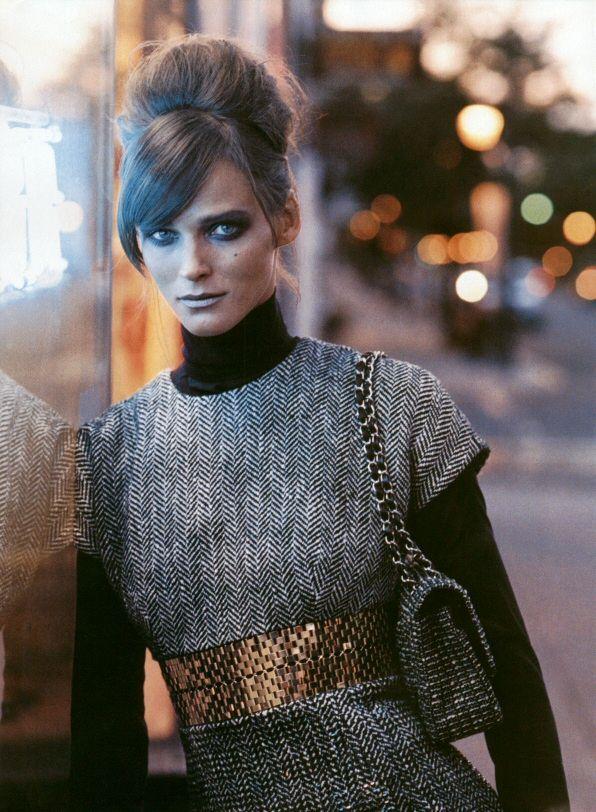Harper's Bazaar - New Takes on Tweed - Carmen Kass - Aug 2003