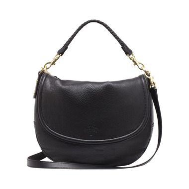 Mulberry - Effie Satchel in Black Spongy Pebbled