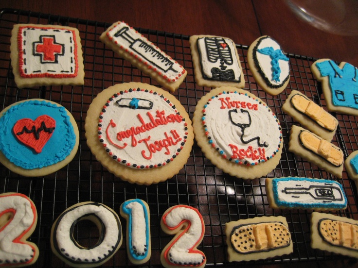 Nurse Graduation cookies