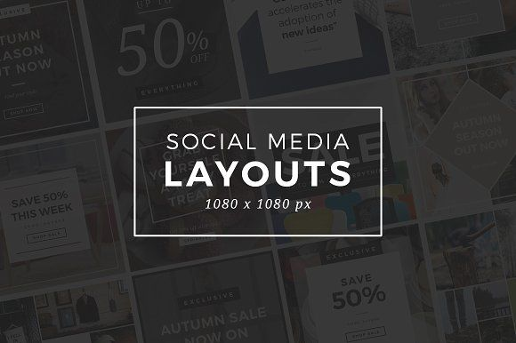 Instagram Social Media Layouts by Medialoot on @Graphicsauthor