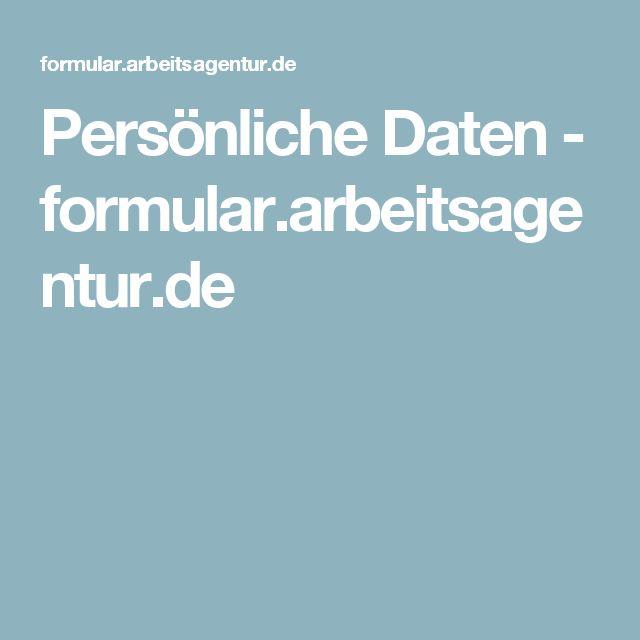 Persönliche Daten - formular.arbeitsagentur.de