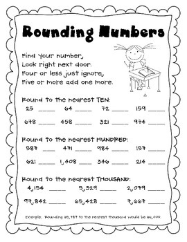 tpt rounding worksheet and comparing ordering and rounding numbers test math skills math. Black Bedroom Furniture Sets. Home Design Ideas