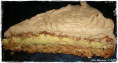 Kvardagskost og KOS med LAVKARBO: Nøttekake med vaniljekrem og sjokoladetopping - lavkarbo ♥