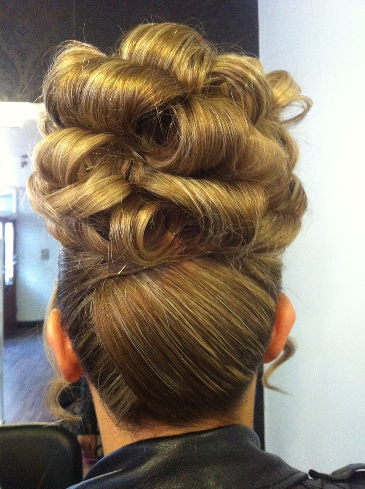 Barrel Curl Updo Hair Pinterest Barrel Curls And Updo