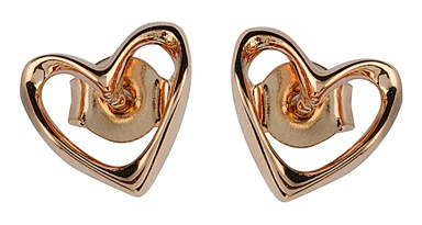 Rose gold earrings available at  www.lucymecklenburghjewellery.com in association with www.diamondgeezer.com