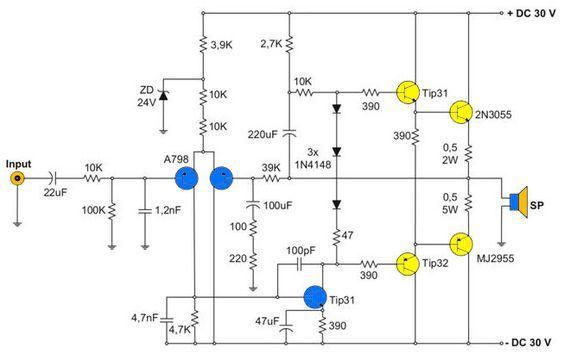 400w Amplifier With 2n3055  Mj2955 In 2020