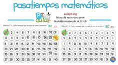 Pasatiempos matemáticos. Series de 2 en 2 y de 3 en 3