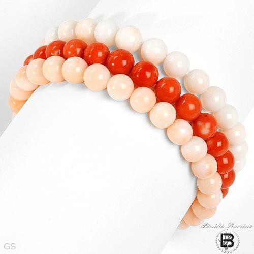 BASILIO LIVERINO 18K White Gold Coral Ladies Bracelet. Length 7.5 in. Total Item weight 46.5 g. BASILIO LIVERINO. $3295.00. Save 82%!