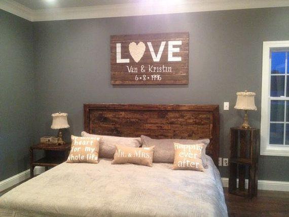 Rustic Platform Bed & Headboard - California King on Etsy, $880.00