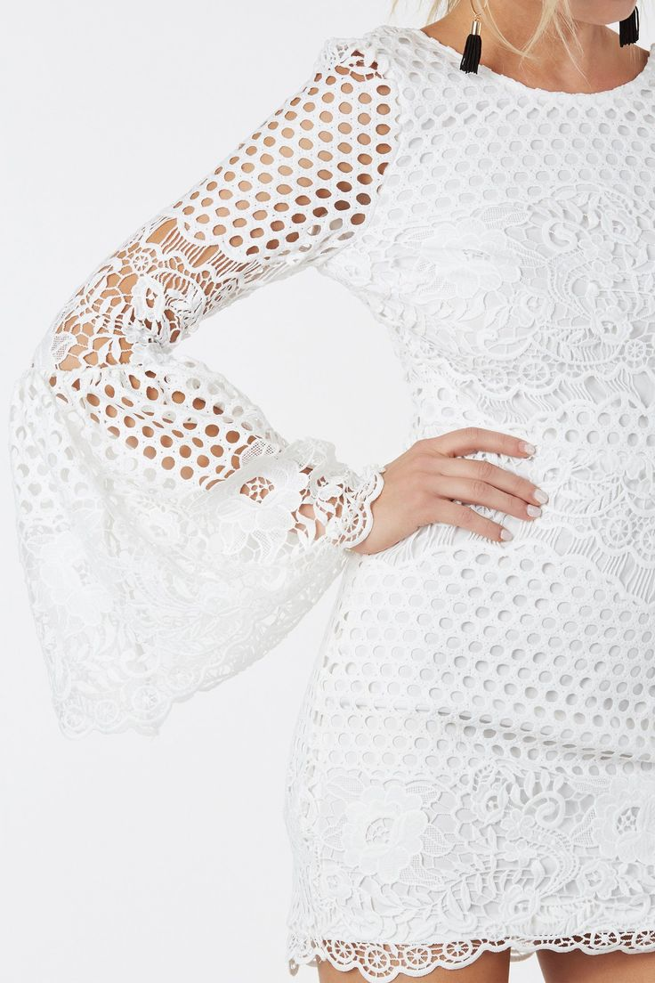 Cloud Nine Crochet Dress