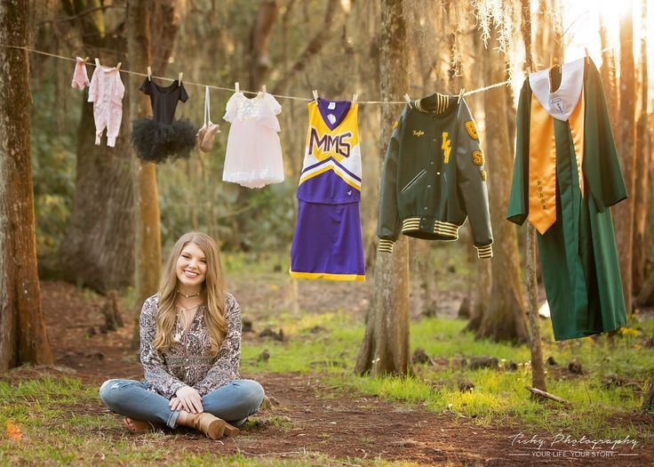 Completely in love with this idea!!! Her first outfit, first recital, first cheer, and now her graduation. Seniors 2018, book early to take advantage of weekend sessions before dates are fully booked.