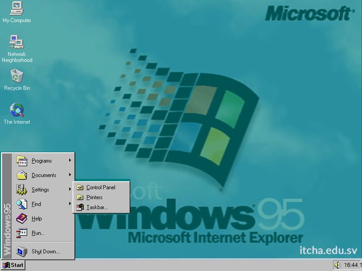 Así era el Windows 95