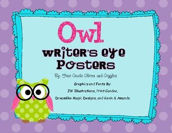 Love, love, love these posters!! They are perfect for 1st graders who need these reminders daily when writing! Perfect for my owl themed classroom :)