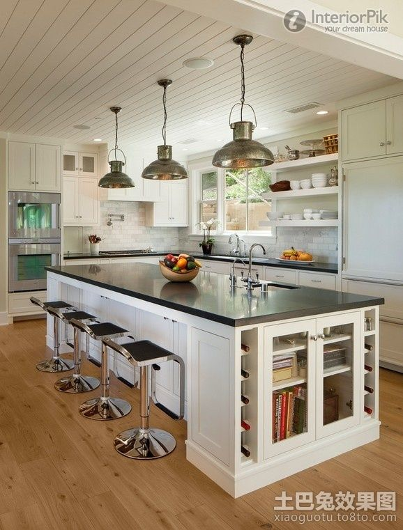 Kitchen Idea   Home And Garden Design Ideas. I Love The Cabinet At The End  Of The Island. Cookbooks And Wine Racks