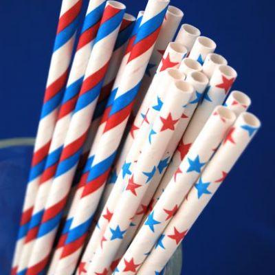 4th of July straws: Summer Picnic, Stripes Straws, Fourth Of July, Stripes Paper, Patriots Paper, 4Th Of July, Paper Straws, Patriots Parties, July 4Th