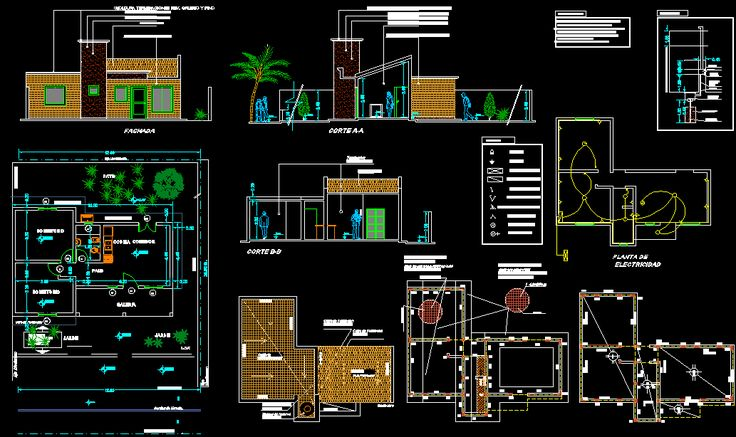 One story house project 145 meter square CAD Library