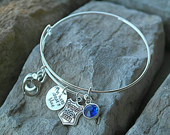 Check out this item in my Etsy shop https://www.etsy.com/listing/252616213/police-wife-bracelet-police-officer