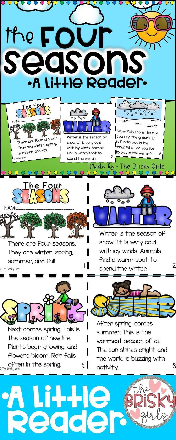 hight resolution of The Four Seasons Reader   Seasons lessons