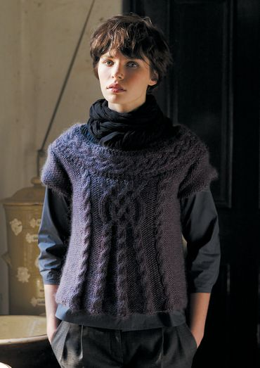 Stockport Cropped Cabled Sweater Free Knitting Pattern