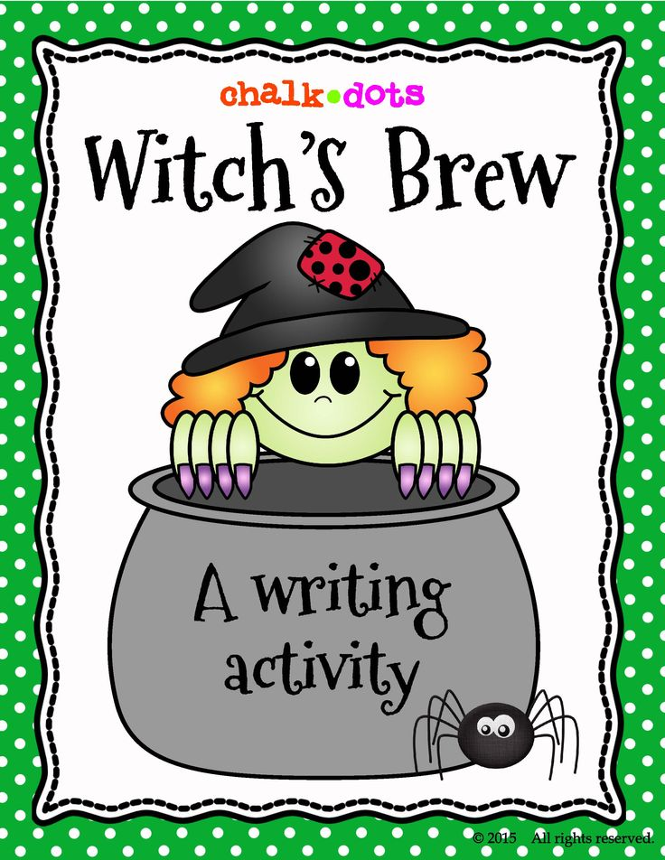 "This Halloween writing activity is great to use any time during the Halloween season! See what creative recipes your kids can come up with for their own ""witch's brew!"""