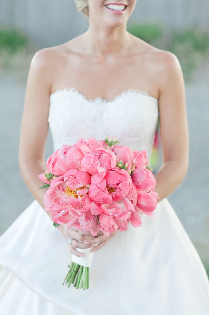 All pink peony bouquet. #peony #bouquet  Photography: Leila Brewster - leilabrewsterphotographyblog.com  View entire slideshow: Peony Bouquets on http://www.stylemepretty.com/collection/572/