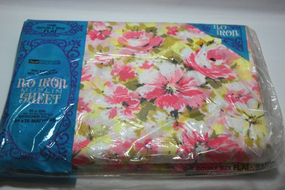 NIP double flat sheet flat sheet new in package pink by PoetCharms