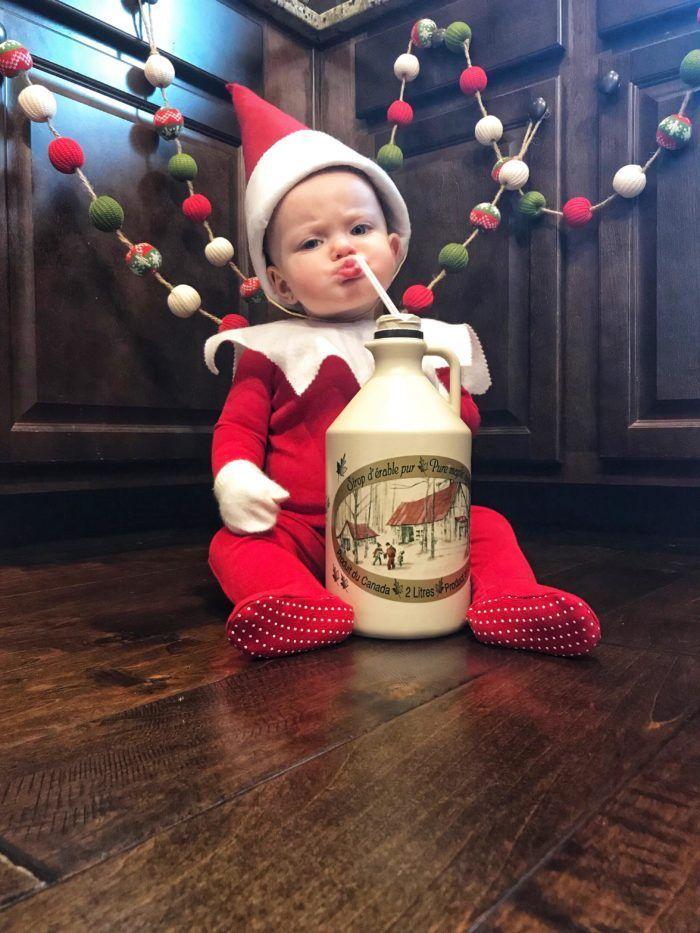 Baby Elf On The Shelf An Elf Named Violet Elf On The Shelf