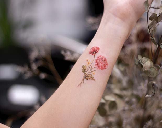 21 Trendy Poppy Tattoo Ideas For Women Poppies Tattoo Flower Wrist Tattoos Tattoos