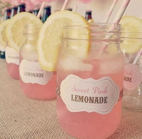 Love this Girl Baby Shower idea Thinking blue kool aide for boy blue lemonade is possiable too if its homemade and the orange can be soaked in blue food coloring and water for a neat effect!