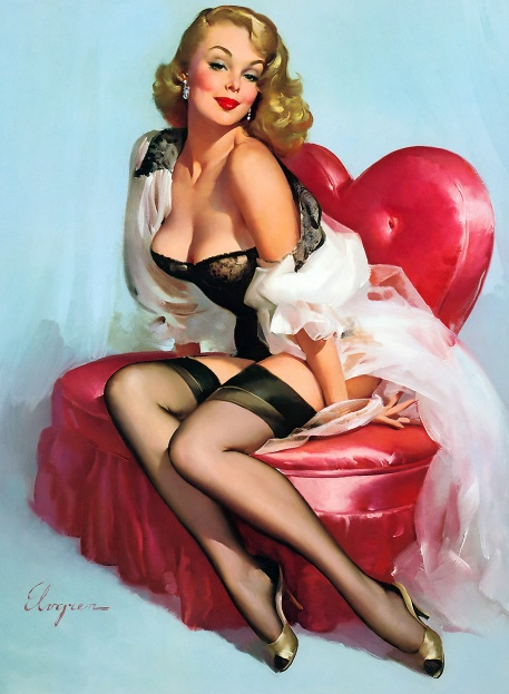 Valentine's Day Pin up Girl