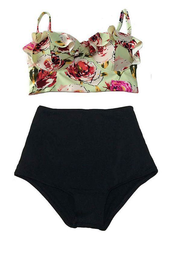 We love our high waist swimsuit collection! Other styles available. Waist: High Waist Gender: Women Material: Nylon Material: Spandex Please allow 2-3 weeks for shipping & handling