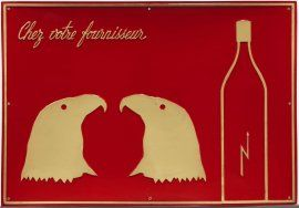 Broodthaers, Marcel: Chez votre fournisseur (Le Vinaigre des Aigles) (At your…