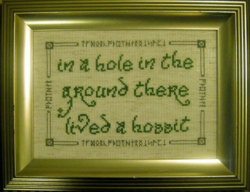 I really want to do this: Crosses Stitches Patterns, Crafts Ideas, Geekstyl Crafts, Hobbit Quotes, Crossstitch, The Hobbit, Nerd Rooms, Favorite Book, Crosses Stitchery