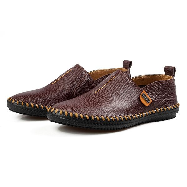 Casual Hand-made Breathable Soft Flat Oxfords For Men
