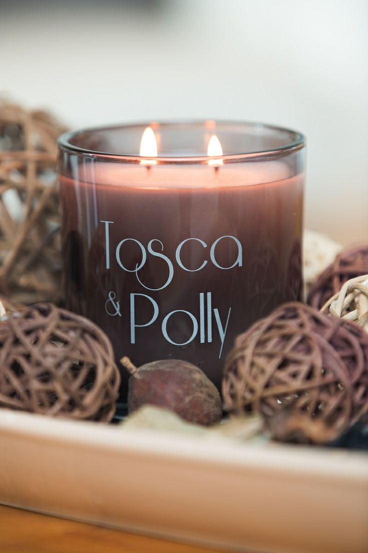 Tosca & Polly Luxury scented Candles - Lifestyle - opaque smoke vessel - 440g - up to 80 hour burn