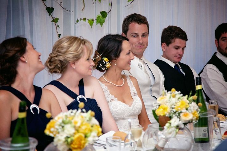 I just love this moment captured for me to cherish forever. It was the father of the bride speech and our photographer managed to catch my husband having a peak at his bride's reaction to the speech. #Rustic #Wedding #Photography #Yellow #Moment