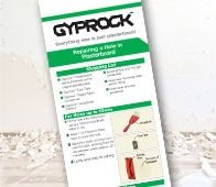 There's lots of reasons for needing to repair a hole in plasterboard. The good thing is that it's easy and if you follow this simple Gyprock™ instruction sheet, no one will ever know that the hole was there!