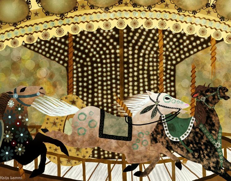 Runaway Carouselhorses by KatjaLammi