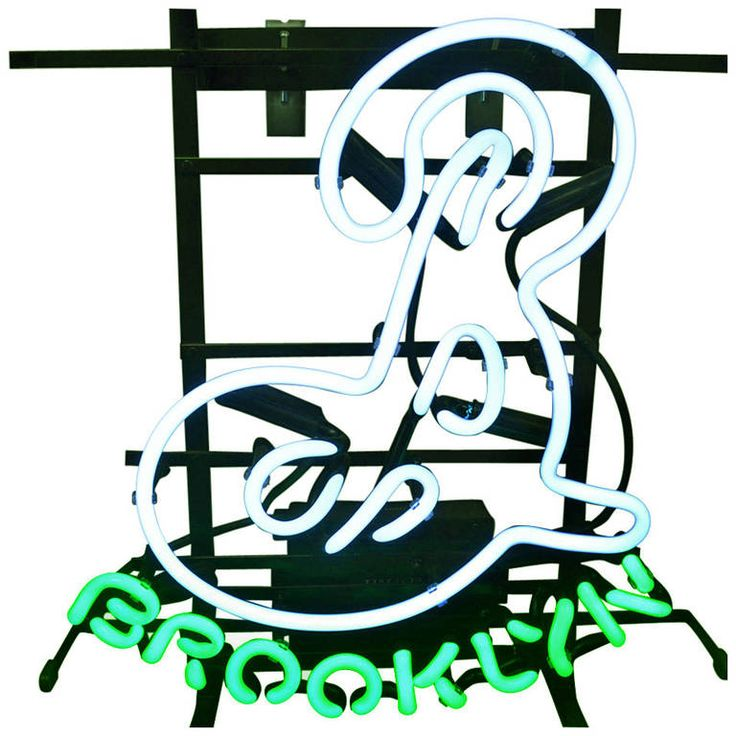 Brooklyn Neon Sign With Steel Wall Mount From A Unique