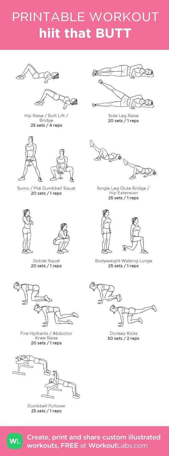 hiit that BUTT my custom workout created at WorkoutLabs.com Click through to download as printable PDF! #customworkout
