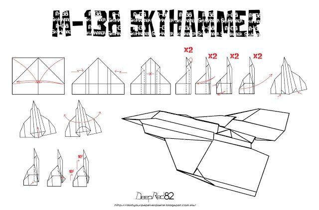 Avion De Papel M 138 Skyhammer Do It Your Paper Airplane Aviones De Papel Diagramas De Origami Estrellas De Origami