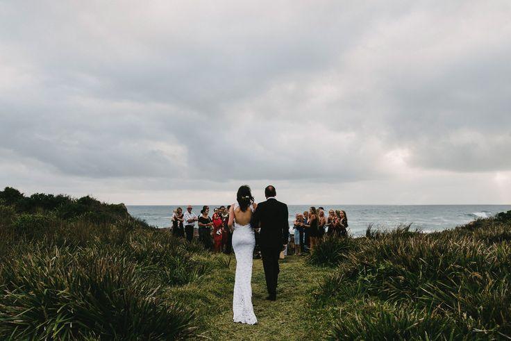 Coastal wedding ceremony