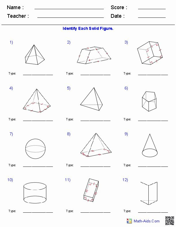 Surface area Of Pyramid Worksheet Luxury Geometry