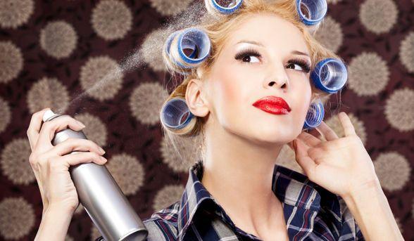 Very #retro! #hairspray #hairstyle #beauty