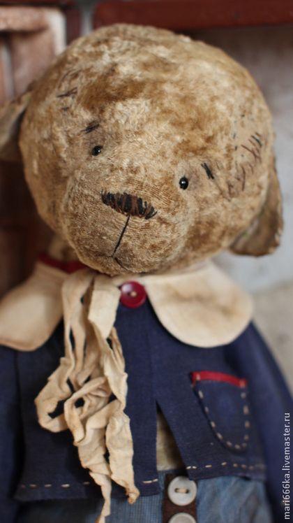 Сеня. - бежевый,тедди,тедди медведи,мишка ручной работы,мишки тедди,винтаж