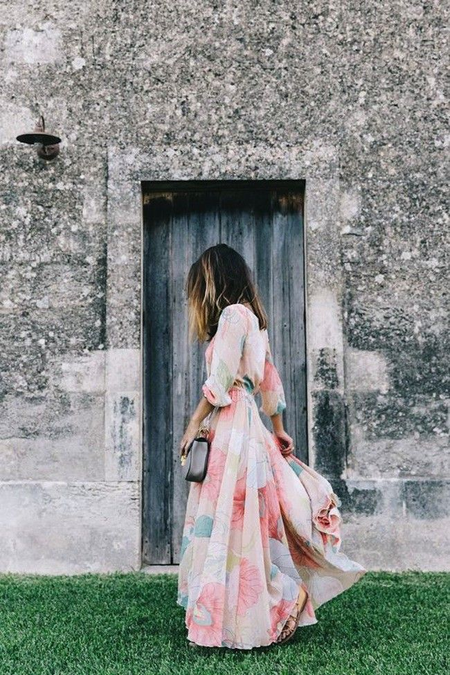 Watercolor maxi dress, perfect for Spring
