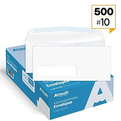 Ad Ebay 10 Single Left Window Envelopes Gummed Closure Size 4 1 8 X 9 1 2 Inches In 2020 Window Envelopes Security Envelopes Business Envelopes