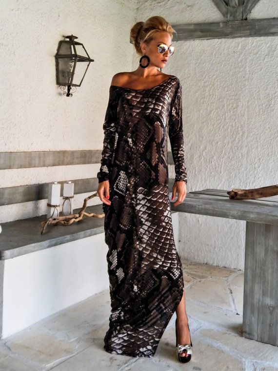 Maxi Dress Kaftan / Loose Kaftan / Asymmetric Plus Size Dress / Oversize Loose Dress / #25007  This elegant, sophisticated, loose and comfortable