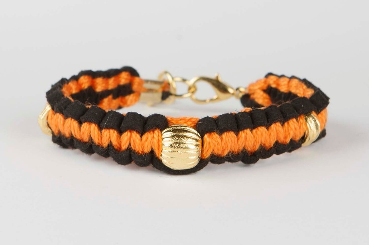 Bracelet Gypsy Soul - Orange / Black