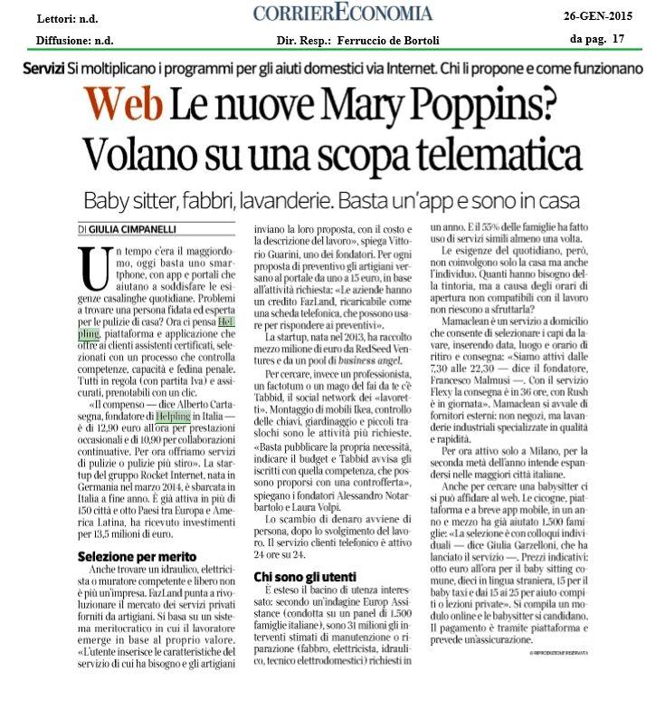 #Fazland su #Corriere Economia per la sezione Media&Tech! #startup #home #repair #tech